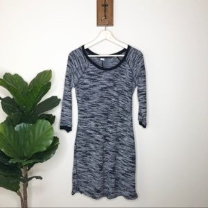 Old Navy black marled sweater dress